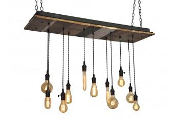 11 Light Reclaimed Wood Chandelier (A)