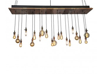 20-Light Reclaimed Wood Chandelier
