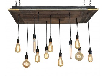 11 Light Reclaimed Wood Chandelier (B)