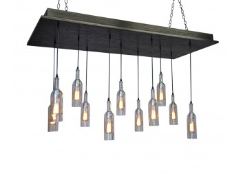 11 Wine Bottle Pendant Chandelier - A