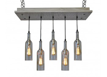 5 Wine Bottle Pendant Chandelier