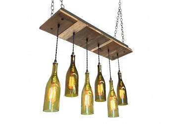 6 Wine Bottle Reclaimed Wood