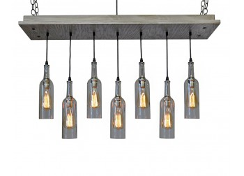 7 Wine Bottle Chandelier