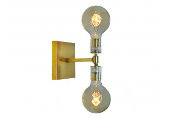 Sconce Double Light - Brass