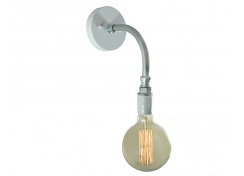 Pipe Sconce Light - White