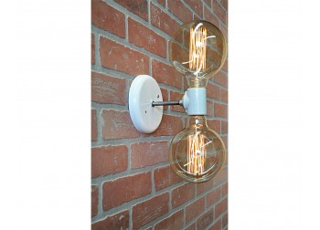 Sconce Double Light - White