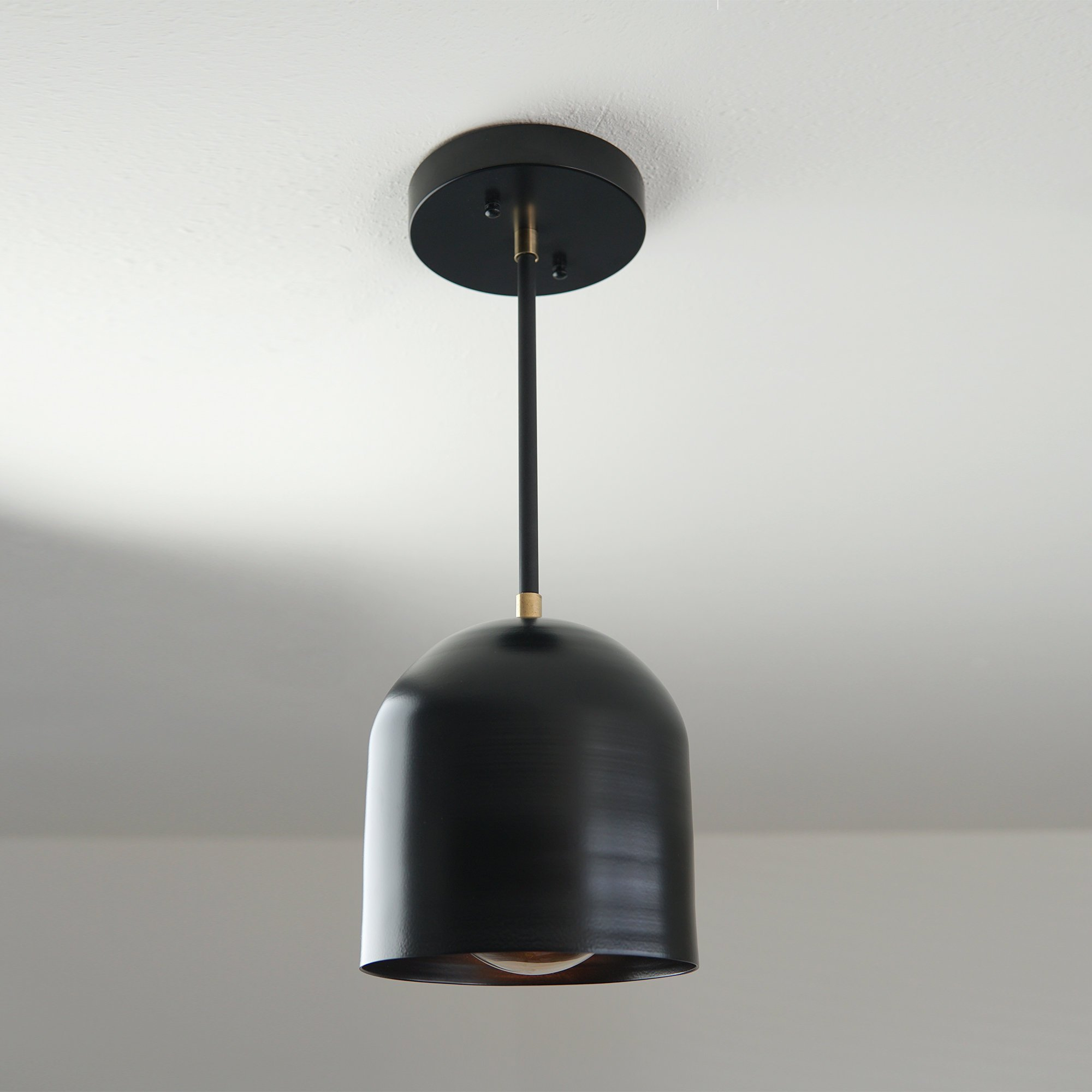 ARC – Small Black Dome Pendant Light
