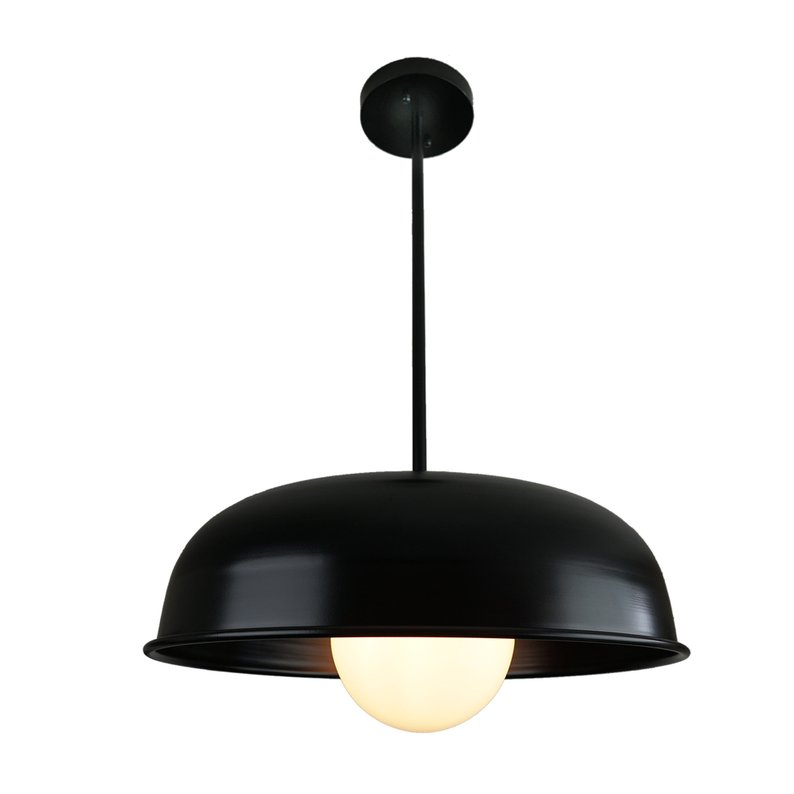 STING - Modern Black Dome Pendant Light