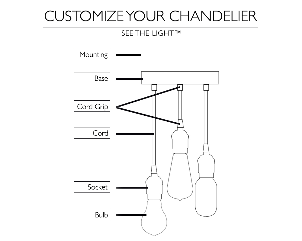34 Pendant Light Chandelier