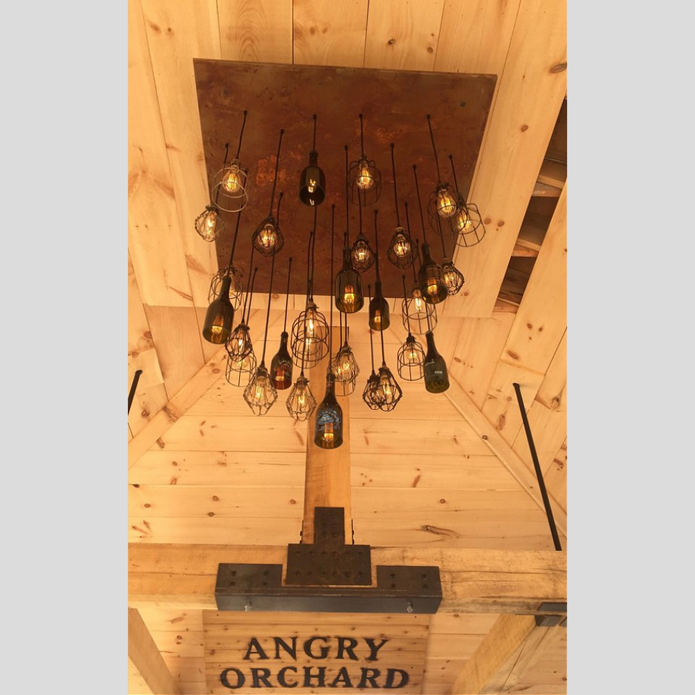 angry orchard wood pavilion pendant chandelier