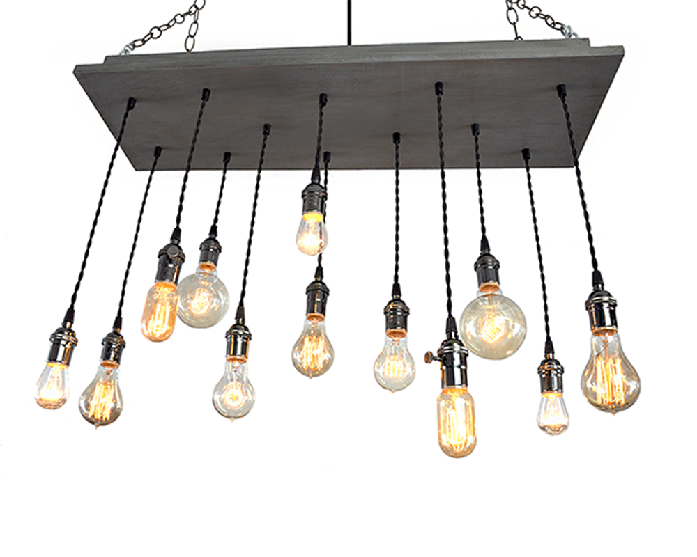 12 Light Multi-Pendant Chandelier