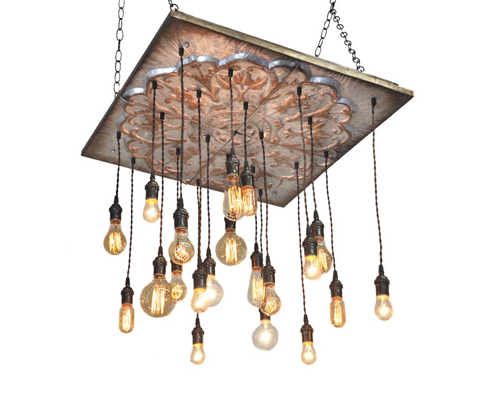 20 Pendant Light Tin Chandelier