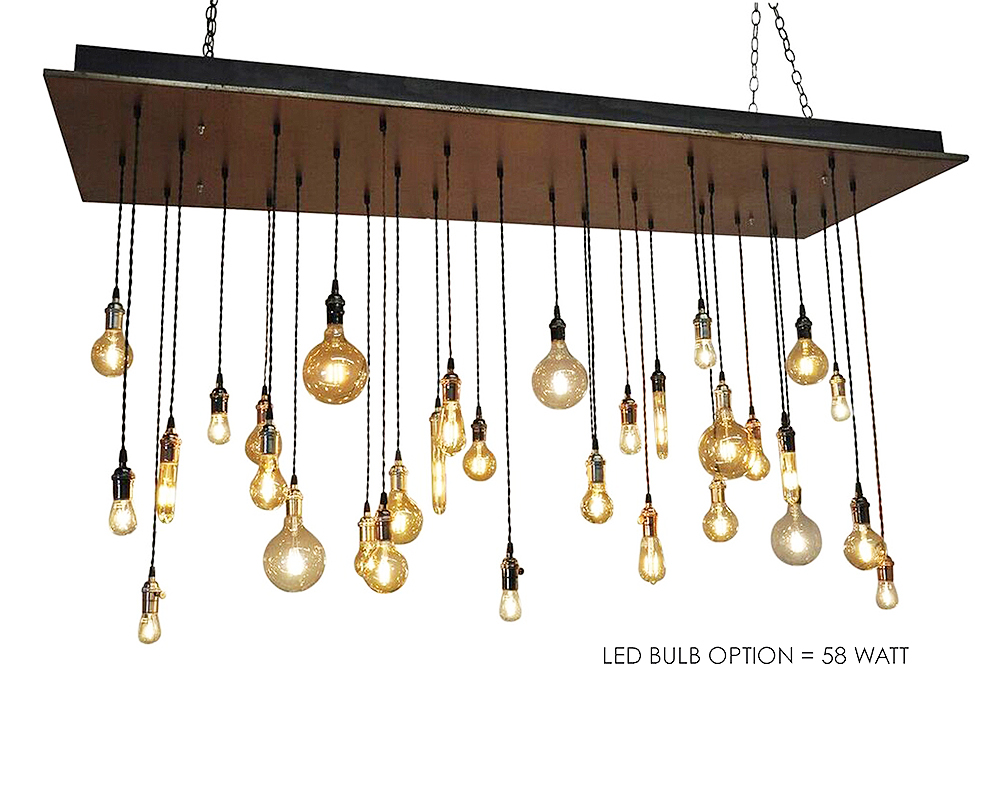 32 Pendant Chandelier - Rust Finish
