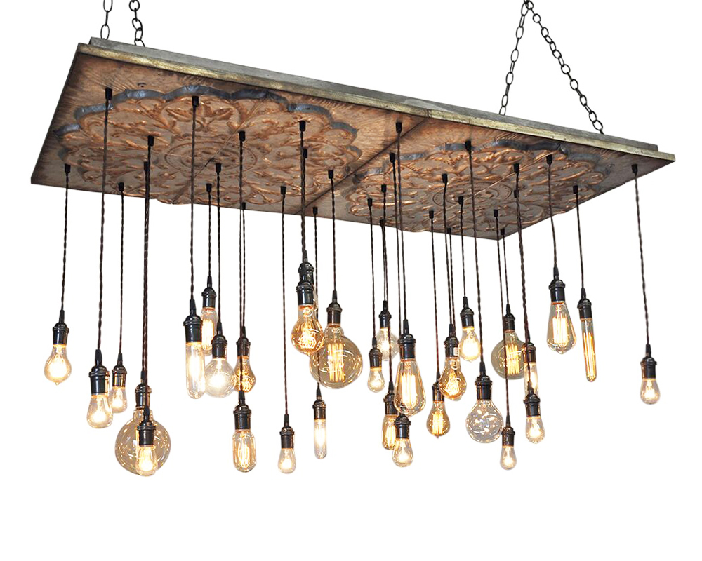 32 Pendant Tin Chandelier