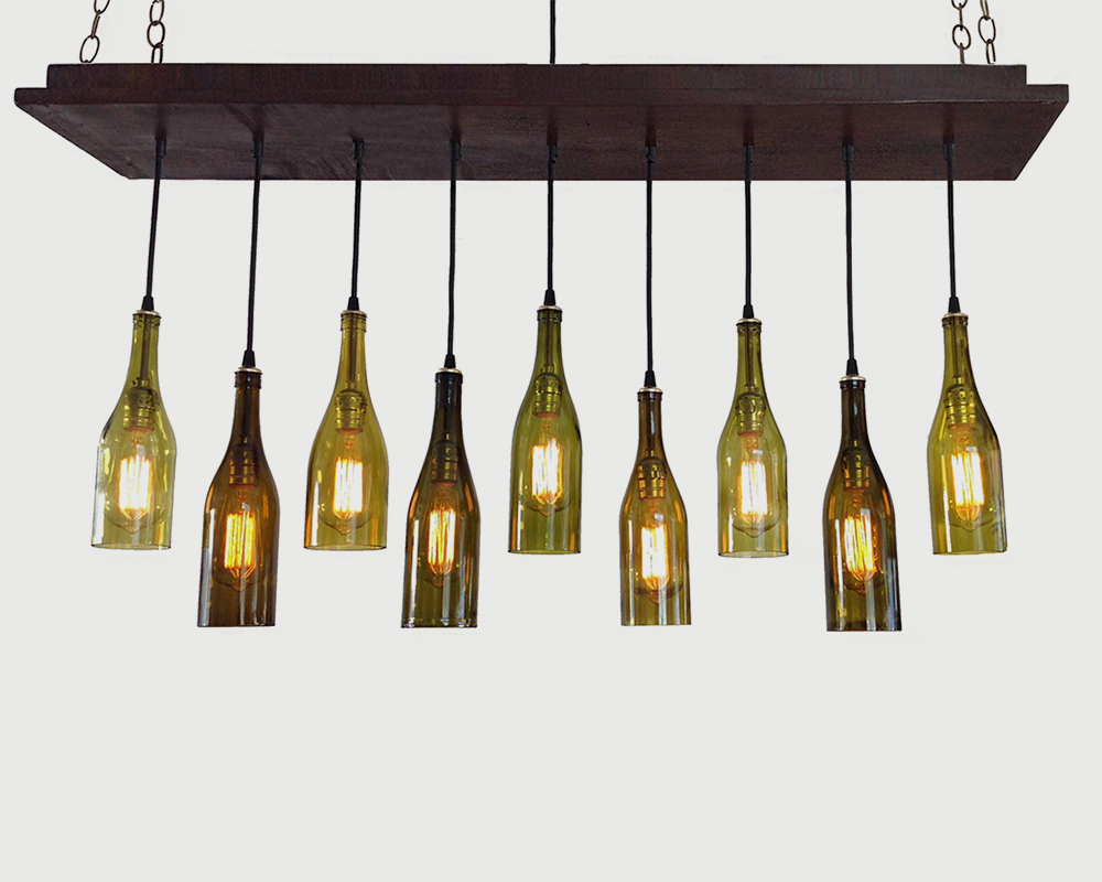 Wine Bottle Chandeliers