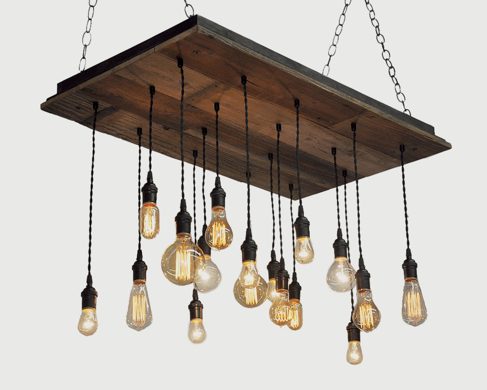 Reclaimed Wood Chandeliers