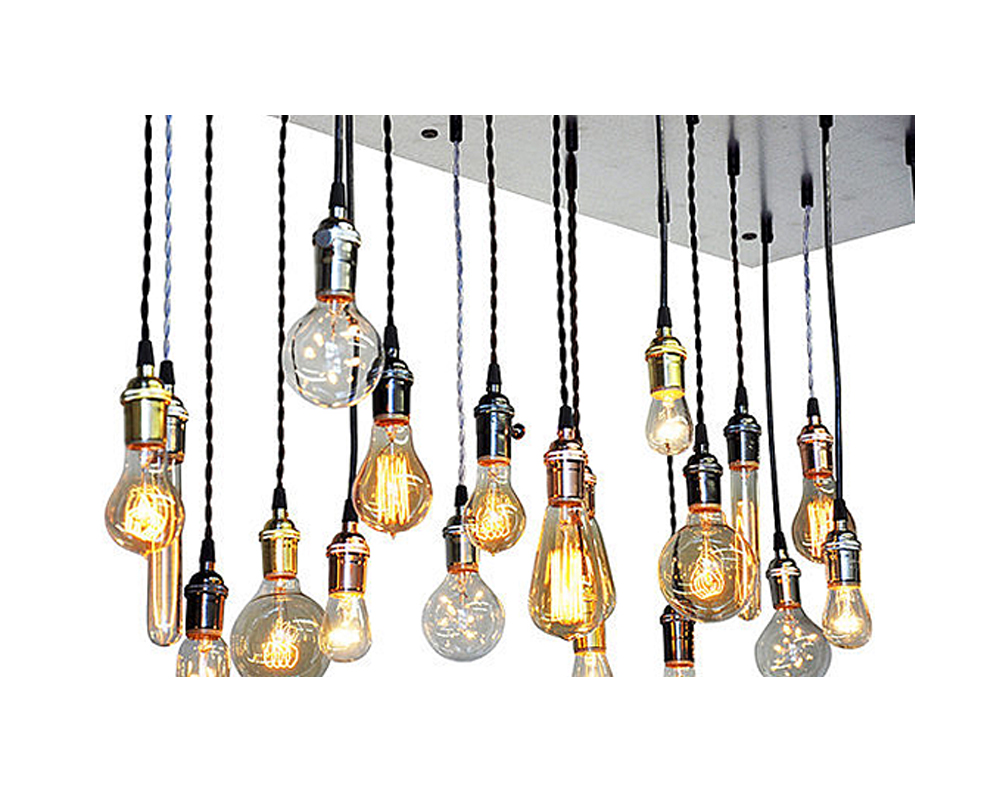 22 Light Chandelier - Galvanized