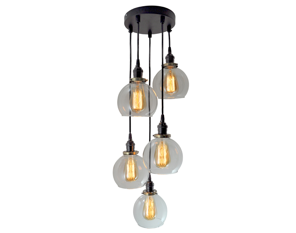 5 Light Multi-Pendant Cluster