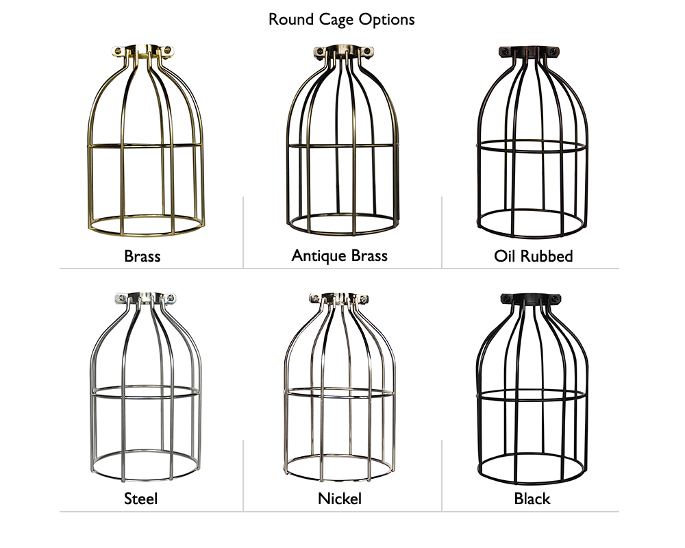 Round Cage Mini Pendant Light