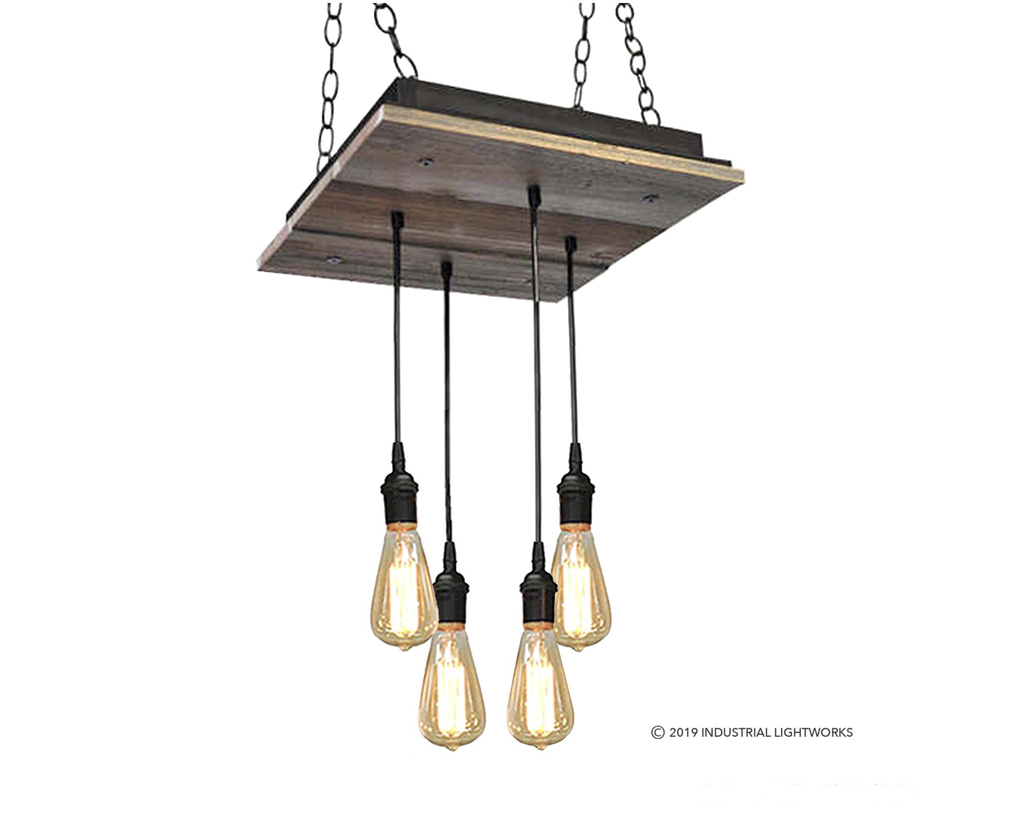 4 Light - Reclaimed Wood Chandelier