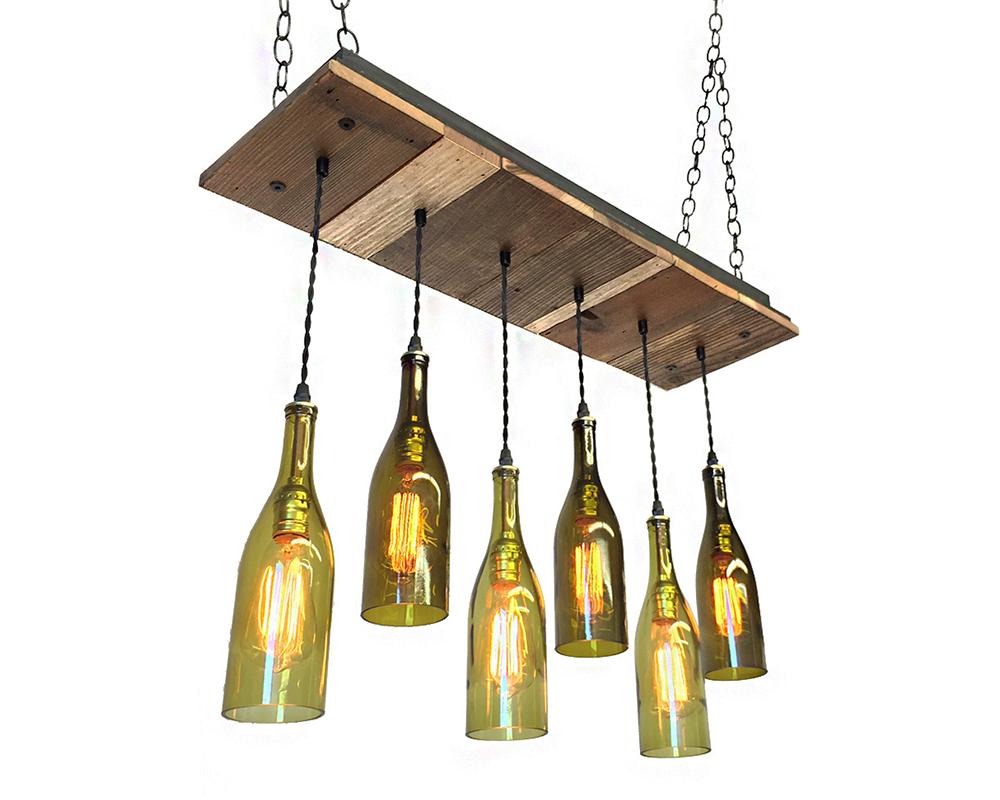 6 Wine Bottle Reclaimed Wood