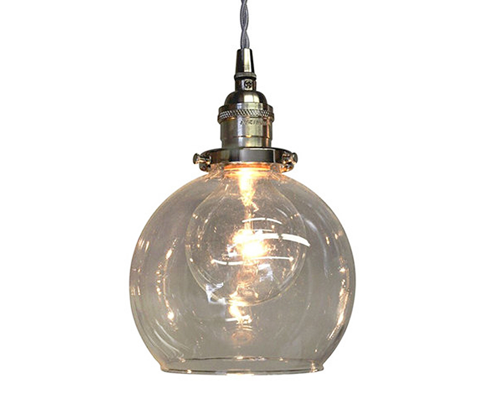 5 Globe Pendant Chandelier - Nickel