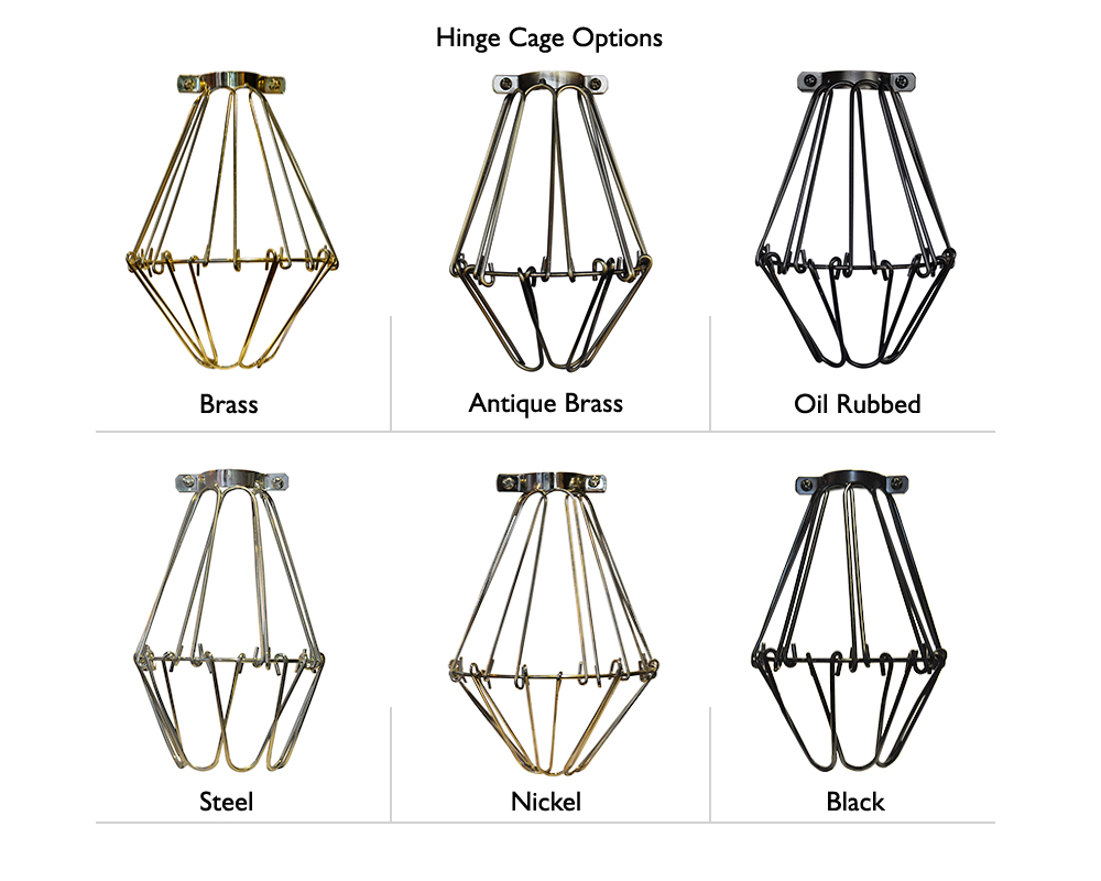 Hinge Cage Mini-Pendant Light