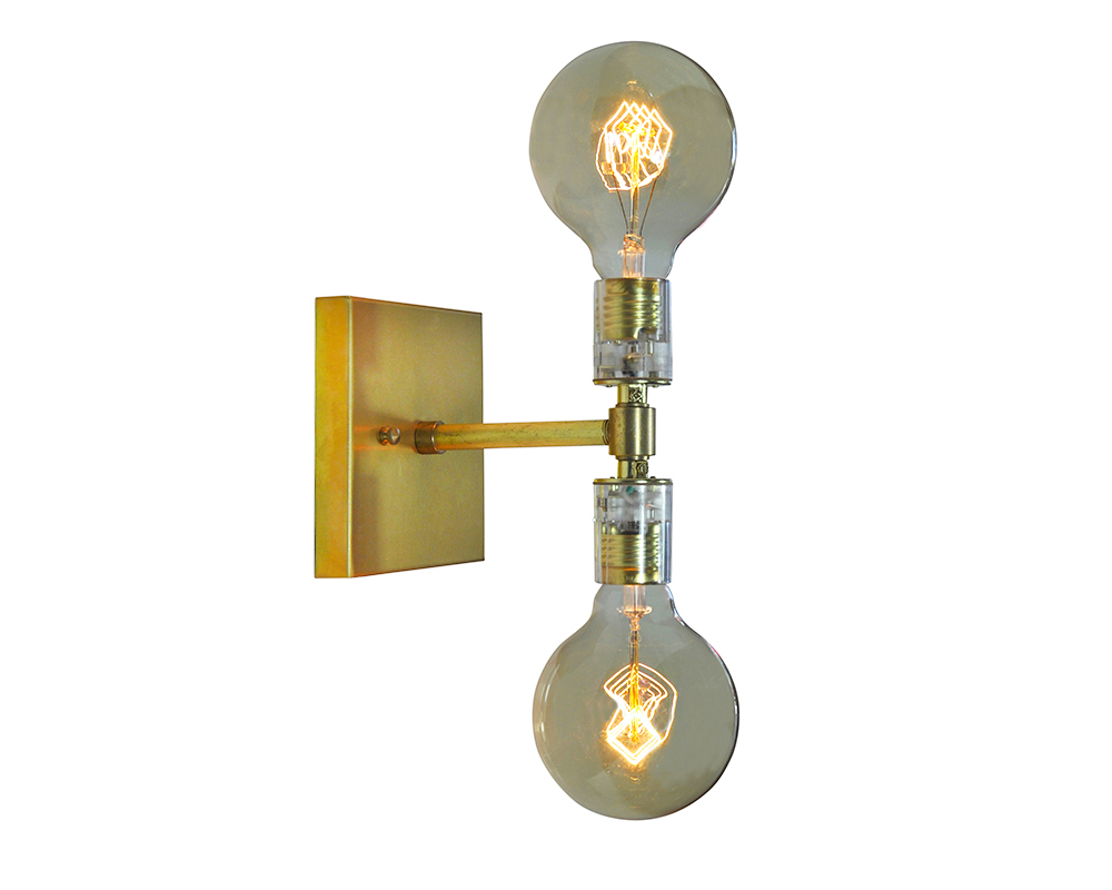 WILL - Sconce Double Light - Brass