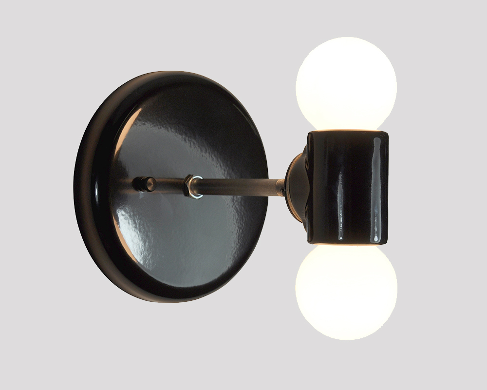 STUB - Sconce Modern Double Light - Black