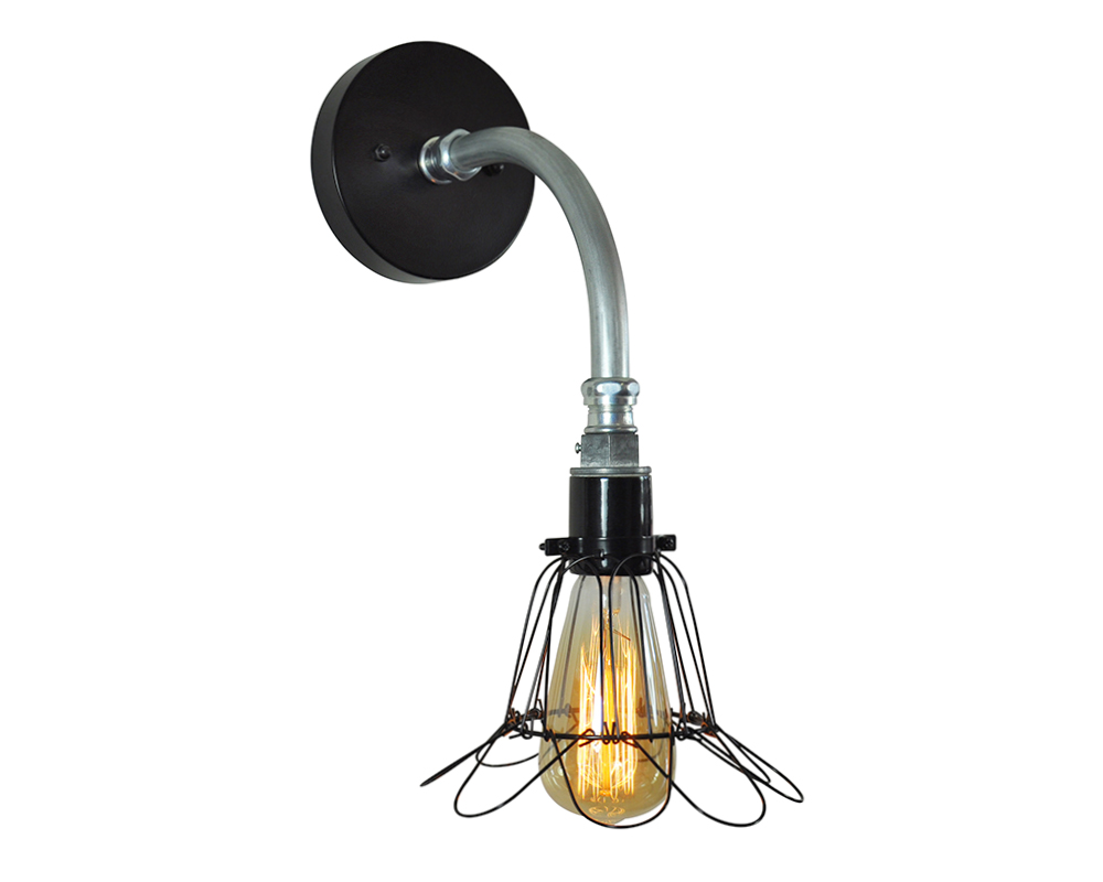 Industrial Pipe Sconce Light