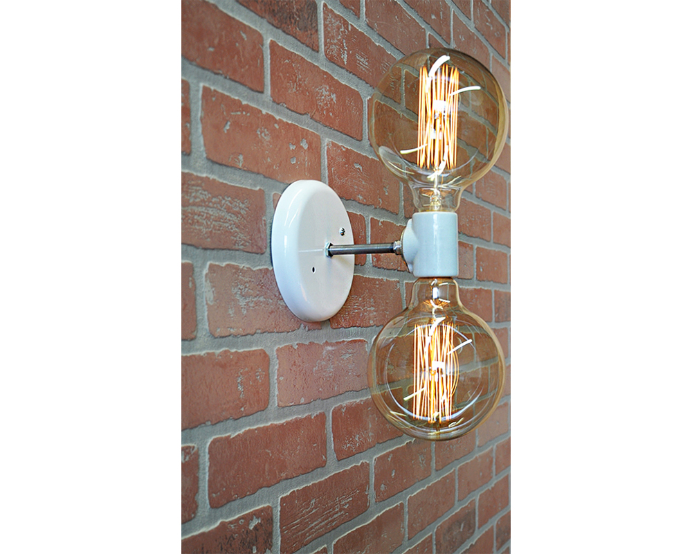 ALICE - Modern Globe Double Light - White