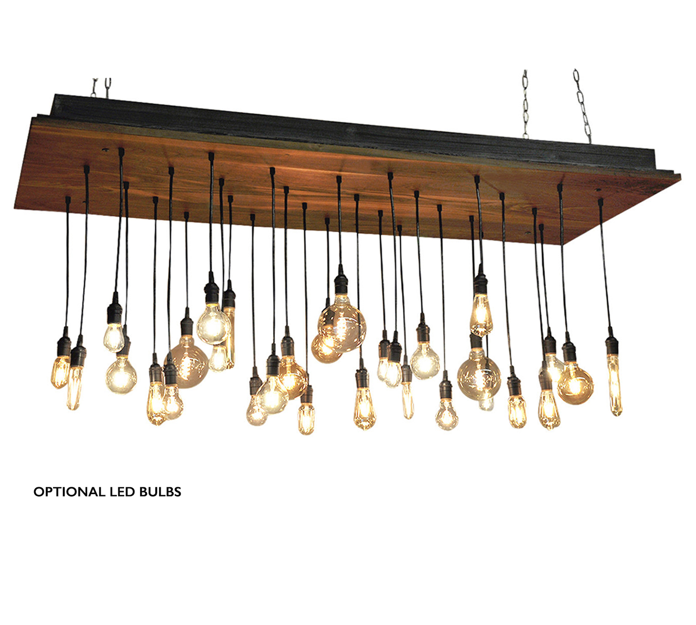 30 Pendant - Walnut Chandelier